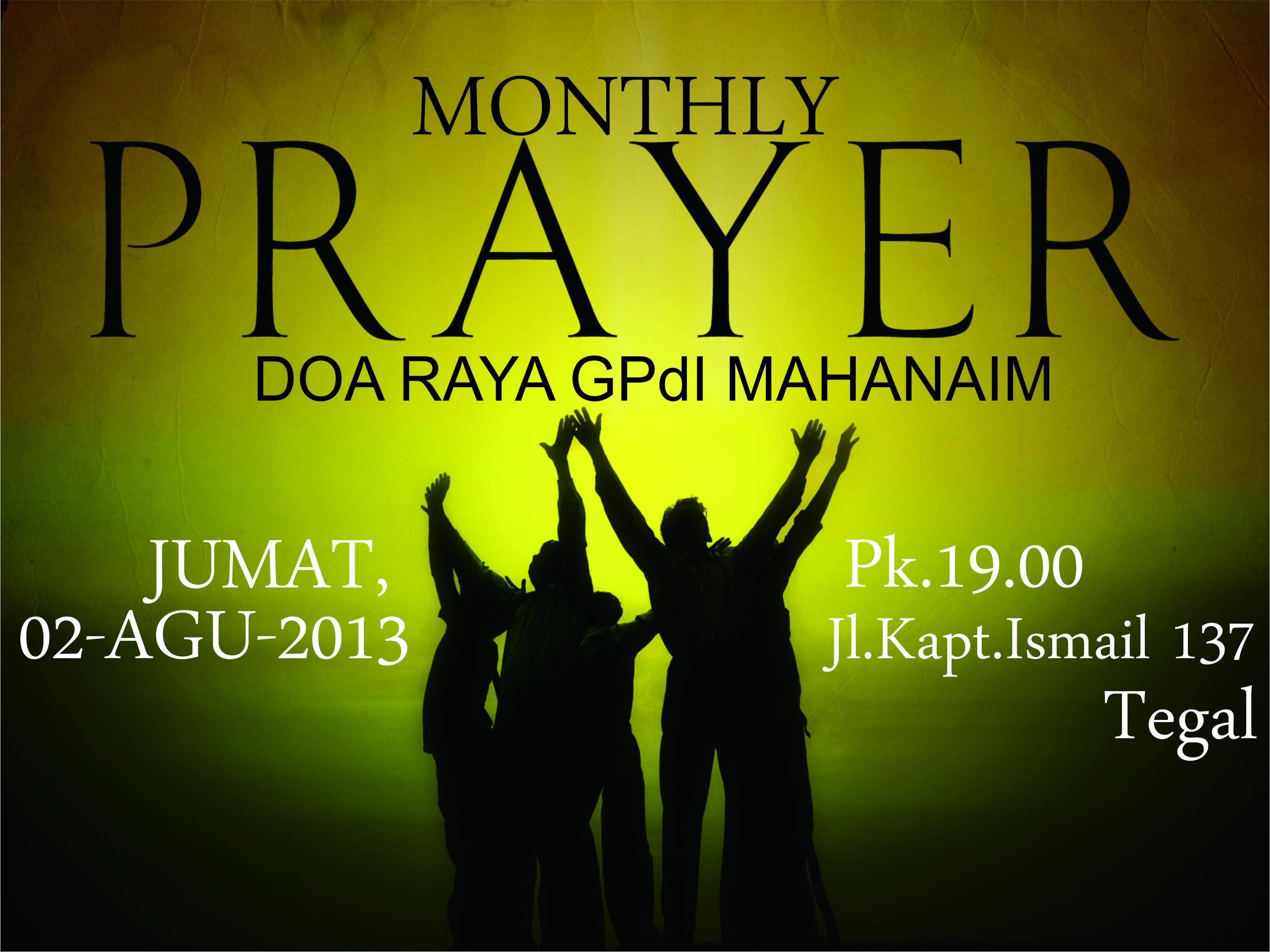 Doa Raya Jumat, 2 Agustus 2013